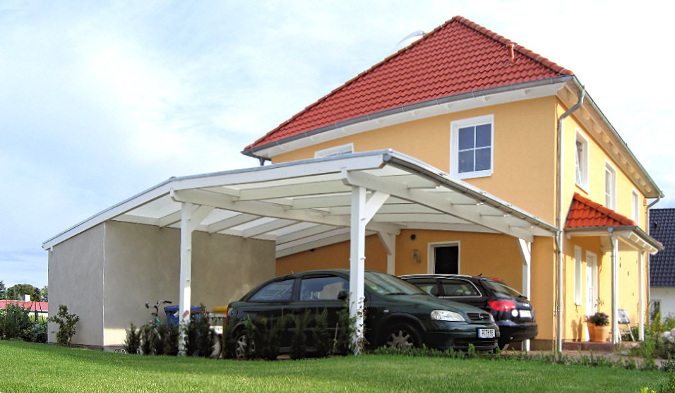 carport mit schuppen. Black Bedroom Furniture Sets. Home Design Ideas